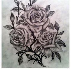 Black roses, I adore this tattoo