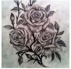 Black roses, I adore this tattoo