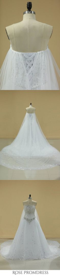 2019 Gorgeous Sweetheart Wedding Dresses A Line Tulle With Applique, This dress could be custom made, there are no extra cost to do custom size and color Chic Wedding Dresses, Junior Bridesmaid Dresses, Wedding Dress Styles, Girls Dresses, Flower Girl Dresses, Prom Dresses, Tulle, Sequin Appliques, Sweetheart Wedding Dress