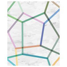 90 x 120cm Bold Geometrics Canvas - Wall Art Clearance - Many Happy Returns Warehouse Clearance