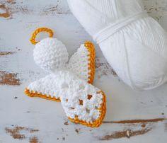 Transcendent Crochet a Solid Granny Square Ideas. Inconceivable Crochet a Solid Granny Square Ideas. Crochet Christmas Decorations, Crochet Ornaments, Christmas Crochet Patterns, Holiday Crochet, Crochet Snowflakes, Angel Ornaments, Christmas Crafts, Christmas Christmas, Crochet Angel Pattern
