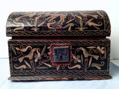 18th C Antique Pennsylvania Dutch Hand Painted Folk Art Box Small Brides Chest     Sold  Ebay   245.00.     ....~♥~