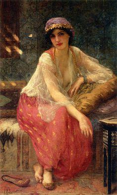 Rosamaria G Frangini | Art Painting Women | Charles-Amable Lenoir 1860-1926