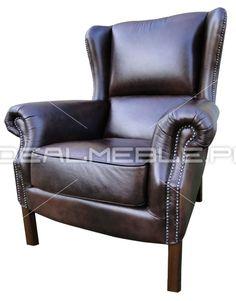 fotel Chesterfield, styl angielski, armchair, głęboko pikowany, skóra, skin, brązowy, brown,  antique, comfortable, wygodny  15425a902_fotel.jpg (470×600)