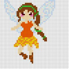 Fawn Disney Fairies Perler Bead Pattern