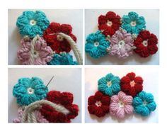 Small flowers crochet