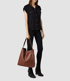 £248 Women's Paradise North South Tote (Black/Black) -