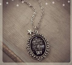 I love you more than all the stars in the sky glass oval necklace  on Etsy, $24.00