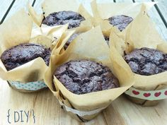 Raquel's Kitchen: Muffins de Chocolate con Dulce de Leche