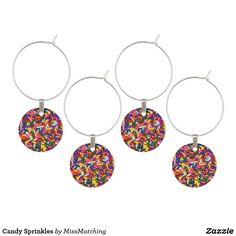 Candy Sprinkles Wine Glass Charm