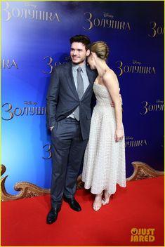 Richard Madden & Lily James Take 'Cinderella' to Moscow | richard madden lily james cinderella moscow photocall 05 - Photo