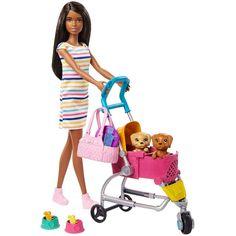 Barbie Shop, Barbie Dolls, Barbie Cars, Barbie House, Mattel Barbie, Accessoires Barbie, Girl Hair Colors, Pet Stroller, Surprise Baby