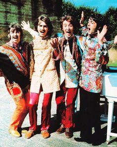 """Strawberry Fields, nothing is real"" The Beatles, John Lennon, Paul McCartney, George Harrison, Ringo Starr"