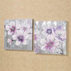 Simplistic Beauties Canvas Wall Art Set Multi Pastel Set of Two