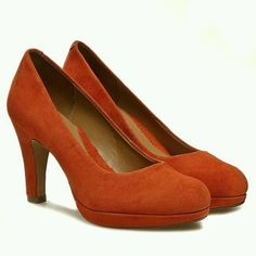 Clarks Ladies Anika Kendra Orange Suede High Heel Shoes size 5/38 in Clothes, Shoes & Accessories, Women's Shoes, Heels   eBay