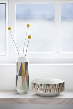Brilliantly designed , this Spear Vase by Ferm Living takes geometric shapes and fuses them with a contemporary modern look. Changes the glory game when you use it or display it. My Home Design, Home Interior Design, House Design, Mural Floral, Vase Deco, Boutique Deco, Bowl Designs, Deco Design, Vintage Design