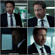 Mulder worrying about Scully