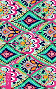 Lilly Pulitzer Crown Jewels Wallpaper