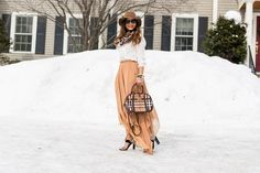Handkerchief Skirt and Zara Silk Shirt