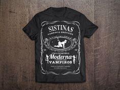 Camiseta preta Sistinas, a Sodoma dos vampiros.