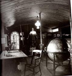 "Pablo Neruda's writing room in Chile  as depicted in the book ""Pablo Neruda: Absence and Presence"" by Alastair Reid"
