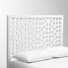 Guest Bedroom Headboard   Morocco Headboard - White   west elm