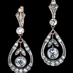 Browse our collection of antique and vintage earrings of unique designs from the 1800s and early 1900s