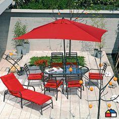 Juego #terraza Soho #Rojo #Jardin