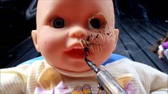 How to make your own Halloween Zombie Babies Props.....Cheap way to create a Nursery of Fun with your own Idea's & Creation. Just some cheap Dolls from garag...