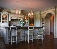 Sala da pranzo stile veneziano - Tavolo allungabile in stile ...
