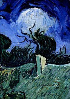 Vincent van Gogh, Les Chaumes de grès à Chaponval, 1890. on ArtStack #vincent-van-gogh #art