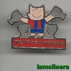 111-Pin Tetracampions  Futbol Club Barcelona