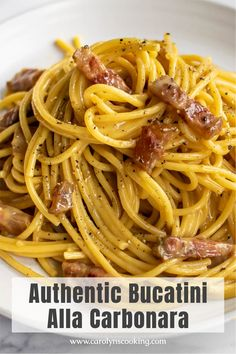 Pasta Dinner Recipes, Easy Pasta Recipes, Paleo Recipes, Easy Meals, Italian Pasta Dishes, Pasta Carbonara, Pasta Shapes, Classic Italian, Mediterranean Recipes