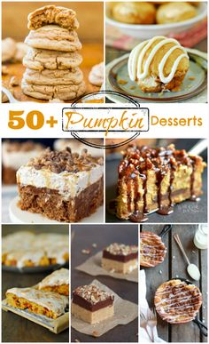 Pumpkin Recipes are everywhere this fall! Here are 50 Pumpkin Desserts to inspire some fall baking!