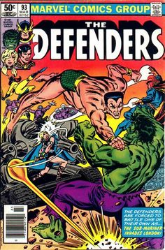 Defenders vs Sub-Mariner The Defenders Issue - Read The Defenders Issue comic online in high quality Marvel Comics Superheroes, Marvel Comic Books, Marvel Characters, Marvel Heroes, Comic Books Art, Comic Art, Spawn Comics, Hulk Marvel, Marvel Art