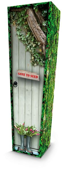 Gone to Seed Picture Coffin available nationwide with FREE delivery from The Coffin Company. Visit www.coffincompany.co.uk