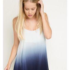 Blue Ombr Brandy Dress