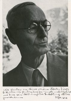 Hermann Hesse (1877 – 1962) was a German-Swiss poet, novelist, and painter. His best-known works include Steppenwolf, Siddhartha, and The Glass Bead Game, each of which explores an individual's search for authenticity, self-knowledge and spirituality. In 1946, he received the Nobel Prize in Literature.