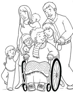 Helping Others Our Grandma Sitting On Wheelchair Coloring Pages : Coloring Sky People Coloring Pages, Family Coloring Pages, Super Coloring Pages, Bible Coloring Pages, Coloring Sheets, Adult Coloring, Coloring Books, Doodle Designs, Online Coloring