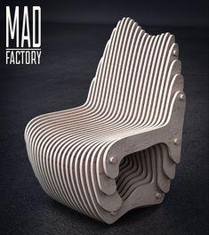 Параметрическое кресло для зоны ресепшн офисного центра. Размеры: 640х680 мм высота 950 мм. Parametric chair for reception area in office center. Материал: фанера 15 мм. #parametric #design #parametricdesign #wood #interior #kazan #казань #параметрика #параметрическийдизайн #дизайнказань #дизайн #интерьер #интерьерказань #дерево #фанера #plywood #3dsmax #rhinoceros #grasshopper #reception #office #офис #кресло #chair by mad_factory116