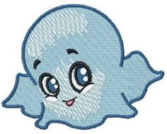 Ghostie Free Embroidery Design
