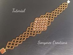 Create this Right Angle Weave Bracelet. Gain instant access to comprehensive bead weaving courses, step-by-step beading patterns, plus a community of beaders. Beaded Braclets, Beaded Bracelets Tutorial, Beaded Bracelet Patterns, Woven Bracelets, Beading Patterns, Netted Bracelet, Embroidery Bracelets, Diamond Bracelets, Beaded Jewelry