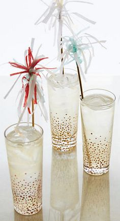 Champagne Bubble Highball Glasses