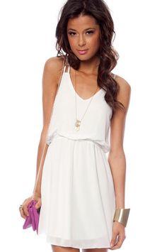 Square One Tank Dress in White :: tobi