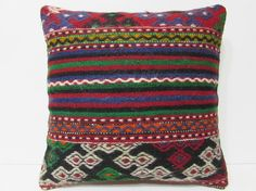 large kilim pillow 20x20 bed cushion cover by DECOLICKILIMPILLOWS