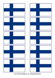 Print these and add Finland to your collection of European flags. Why not make some European Union bunting? Hobbies And Crafts, Crafts For Kids, Finland Flag, European Flags, Finland Travel, World Thinking Day, Good Neighbor, Amazing Race, Toddler Fun