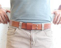 Handmade Leather Belt - Tan