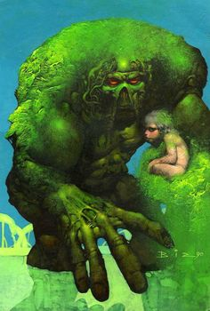 Original Cover Art For Swamp Thing 102 Preview