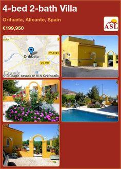 4-bed 2-bath Villa in Orihuela, Alicante, Spain ►€199,950 #PropertyForSaleInSpain