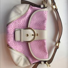 Authentic small coach purse! Authentic light pink coach purse. Great condition only used two times! Coach Bags Mini Bags